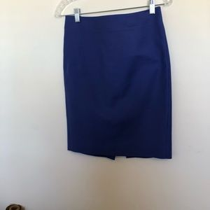 🆕 J. Crew Blue No. 2 Pencil Skirt Size 00